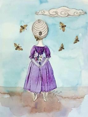 Larissa Gray Head is a beehive 2018
